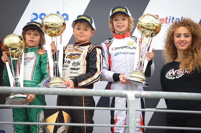 Parolin's explosive results in 60 Mini and OK-Junior